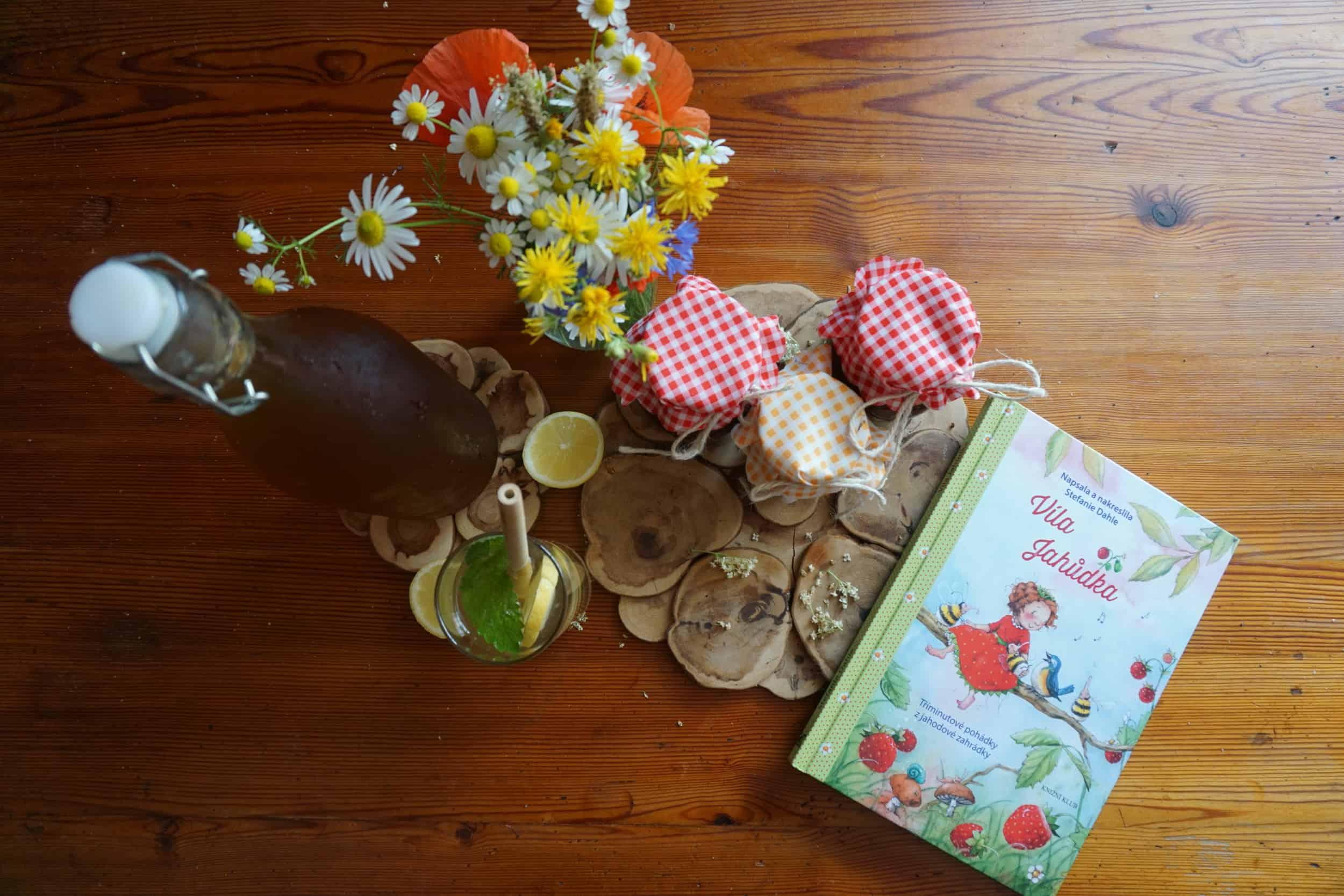 Homemade bezovka, jahodová marmeláda, lívance a Víla Jahůdka